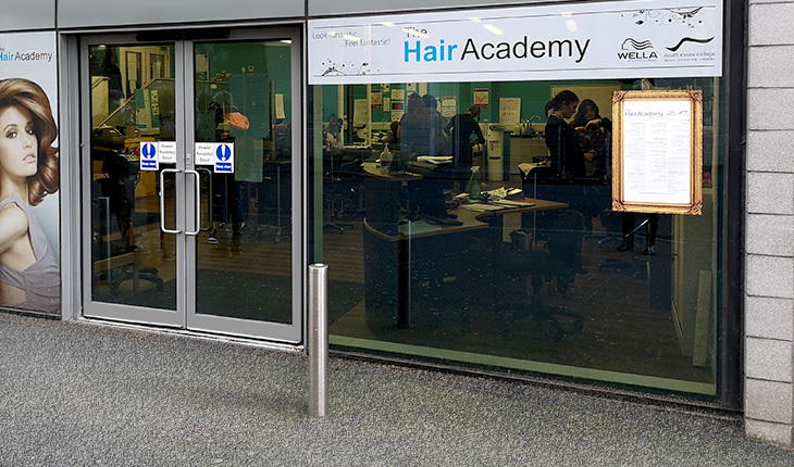 Exterior of Hair Academy