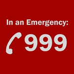 In an emergency 999 icon