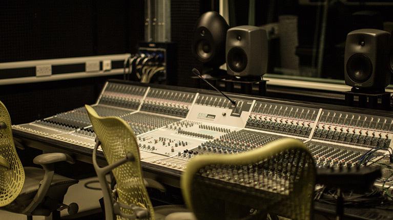 The Backstage Centre the recording studio