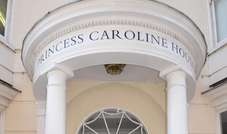 Exterior of Princess Caroline House