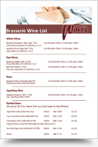 Brasserie Wine List