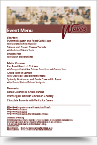 External Event Menu