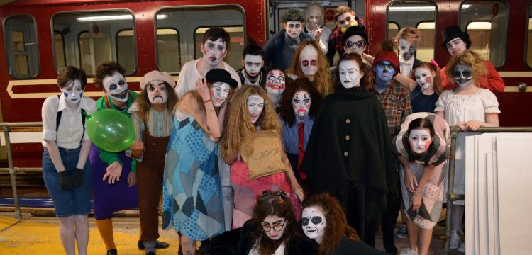 Students put on spook-tacular show at Halloween pier event
