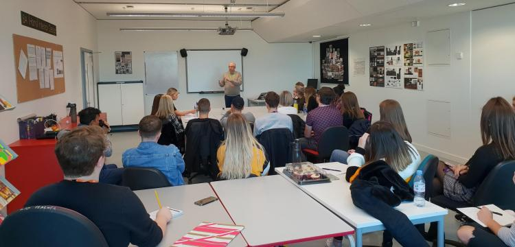 Blum Director delivers talk to Interior Design students